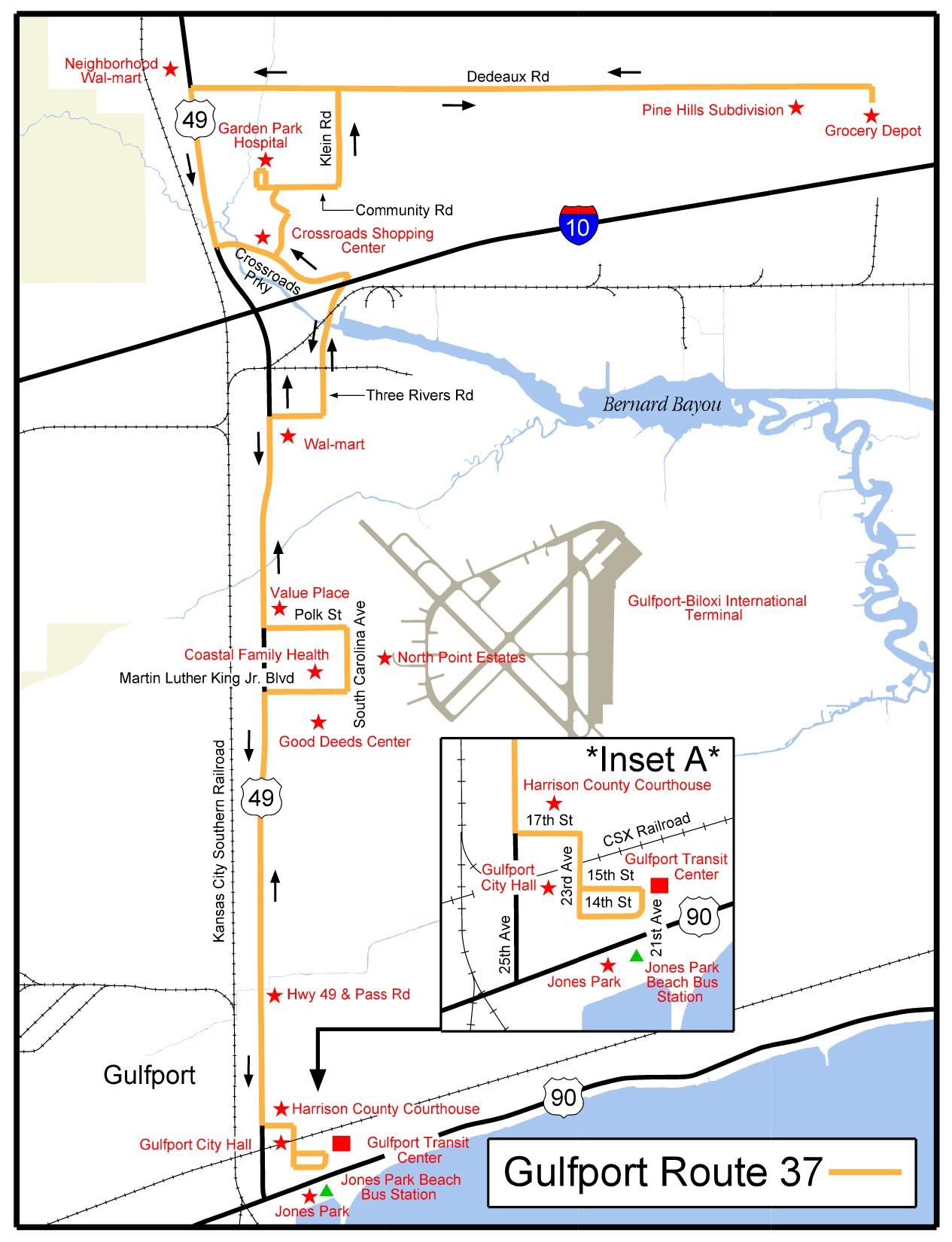 Gulfport Map