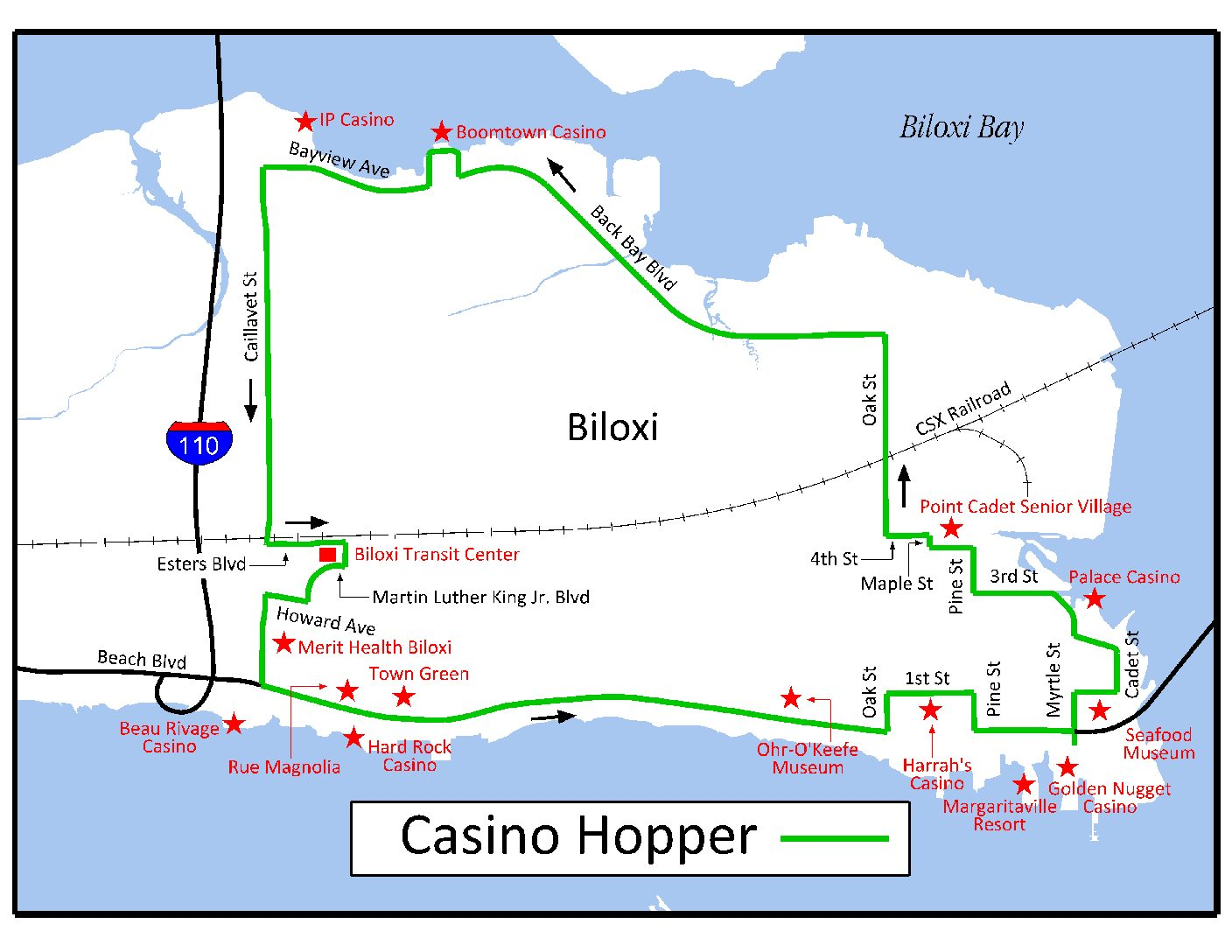 Biloxi casino map