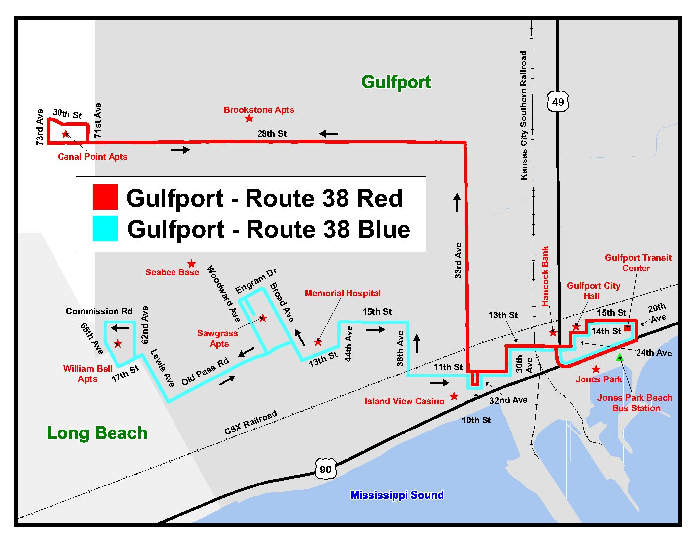Gulfport - Route 38